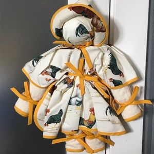 🐓Italian Made Kitchen Dish Towel Doll Roosters!